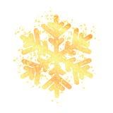 Złocisty płatek śniegu odizolowywający na biały tle Zdjęcia Royalty Free