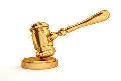 Złocisty sędziego młoteczek Zdjęcie Royalty Free