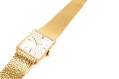 złocisty zegarek Obrazy Stock