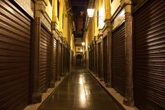 Zoco viejo (mercado) de Granada en la noche Imagen de archivo