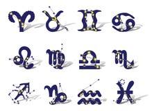 Zodíaco ilustração do vetor