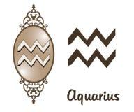 Zodíaco - Aquarius Fotografia de Stock