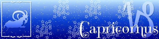 Zodíaco Capricornus da bandeira Foto de Stock