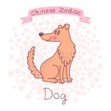 Zodíaco chinês - cão ilustração royalty free