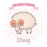 Zodíaco chinês - carneiro ilustração do vetor