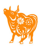 Zodíaco chinês do ano do boi Imagem de Stock