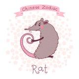 Zodíaco chinês - rato ilustração stock