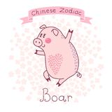 Zodíaco chinês - varrão ilustração do vetor