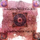 Zodíaco da astrologia (Rosa) - fundo sujo Fotos de Stock Royalty Free