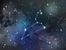 Zodíaco da estrela da constelação do Leão ilustração royalty free