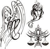 Zodíaco da fantasia. ilustração stock