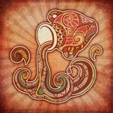 Zodíaco de Grunge - Aquarius Foto de Stock Royalty Free