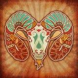 Zodíaco de Grunge - Aries Imagem de Stock Royalty Free