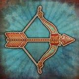 Zodíaco de Grunge - Sagittarius Foto de Stock Royalty Free