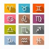 Zodíaco do vetor, símbolos do horóscopo ilustração royalty free