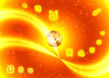 Zodíaco ensolarado dos símbolos Imagem de Stock Royalty Free