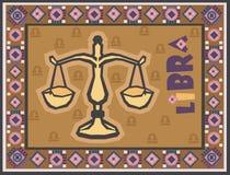 Zodíaco estilizado e decorativo Imagem de Stock Royalty Free
