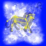 Zodíaco Leo Ilustração Stock