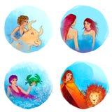 Zodíaco: Taurus, Gemini, cancro, Leo Foto de Stock Royalty Free