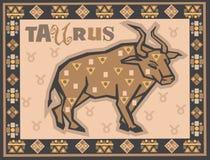 Zodíaco estilizado e decorativo Foto de Stock Royalty Free