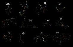 zodiac αστερισμών συλλογής απεικόνιση αποθεμάτων