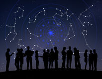 Zodiac αστεριών ωροσκοπίων αστρολογίας σημάδια Στοκ Φωτογραφία