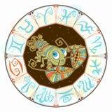 Zodiac για τα παιδιά o Χαριτωμένο ύφος r απεικόνιση αποθεμάτων