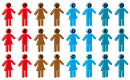 zodiac γυναικών σημαδιών ανδρών Στοκ εικόνα με δικαίωμα ελεύθερης χρήσης