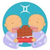 Zodiac Διδυμοι διανυσματική απεικόνιση