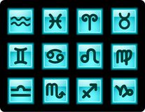 zodiac εικονιδίων Στοκ Φωτογραφίες