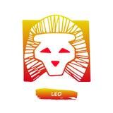 Zodiac διάνυσμα του Leo σημαδιών Στοκ εικόνα με δικαίωμα ελεύθερης χρήσης