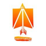 Zodiac διάνυσμα Sagittarius σημαδιών Στοκ Φωτογραφίες