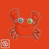Zodiac καρκίνου διανυσματική απεικόνιση στοκ εικόνα με δικαίωμα ελεύθερης χρήσης