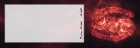 Zodiac καρκίνου σημάδι Σημάδι ωροσκοπίων καρκίνου Δωμάτιο κειμένων προτύπων στοκ εικόνα με δικαίωμα ελεύθερης χρήσης