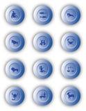 zodiac κουμπιών Στοκ εικόνες με δικαίωμα ελεύθερης χρήσης