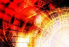 Zodiac κολάζ στο κοσμικό διάστημα αφηρημένο χρώμα ανασκόπησης Στοκ φωτογραφία με δικαίωμα ελεύθερης χρήσης