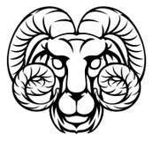 Zodiac κριού Aries σημάδι ωροσκοπίων Στοκ Εικόνες