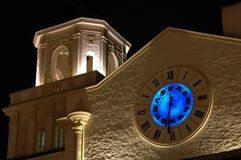zodiac πύργων σημαδιών νύχτας ρο&lambda Στοκ φωτογραφία με δικαίωμα ελεύθερης χρήσης