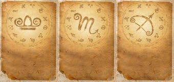Zodiac σειρά Στοκ Εικόνες