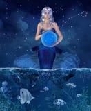 Zodiac σειρά - Pisces Στοκ Εικόνες
