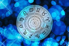 Zodiac σημάδια αστρολογίας για το ωροσκόπιο Στοκ εικόνες με δικαίωμα ελεύθερης χρήσης