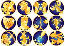 Zodiac σημάδια, ωροσκόπιο ελεύθερη απεικόνιση δικαιώματος