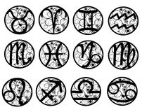 Zodiac σημάδια Στοκ εικόνα με δικαίωμα ελεύθερης χρήσης