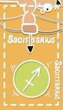 Zodiac σημάδι, διάνυσμα ευχετήριων καρτών Sagittarius Στοκ φωτογραφίες με δικαίωμα ελεύθερης χρήσης