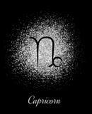 Zodiac σημάδι Capricornon στο ασημένιο υπόβαθρο ελεύθερη απεικόνιση δικαιώματος