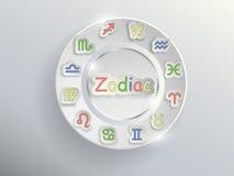 Zodiac σημάδια Zodiac κύκλος Στοκ φωτογραφία με δικαίωμα ελεύθερης χρήσης