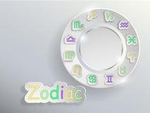 Zodiac σημάδια Zodiac κύκλος Στοκ Εικόνα
