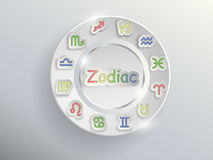 Zodiac σημάδια Zodiac κύκλος Στοκ Εικόνες