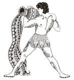 Zodiac σημάδι - Υδροχόος Νεαρός άνδρας με το μεγάλο αμφορέα Νερό outp Στοκ Φωτογραφία