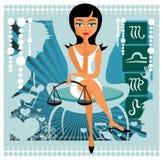 zodiac σημαδιών κλιμάκων Στοκ εικόνες με δικαίωμα ελεύθερης χρήσης